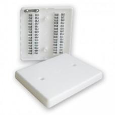 Коробка КРТП-15.Короб.распредел.  телефон. плоская на 2х15пар провод.120х100х22мм. С тамперной зоной