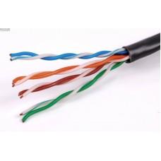 UTP- 5E cat.4pair 24AWG(внешний)кабель черный
